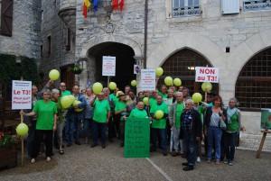 Rassemblement des opposants au T3, le 15 juin 2015, Martel